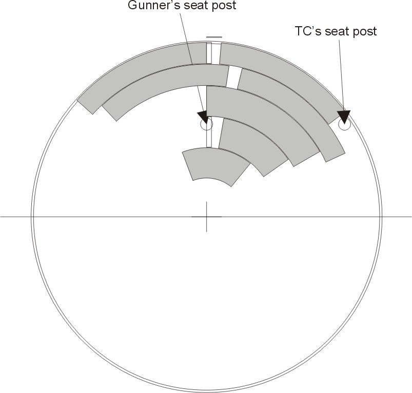 M60A1 turret floor/banana boxes diagram by Pawel