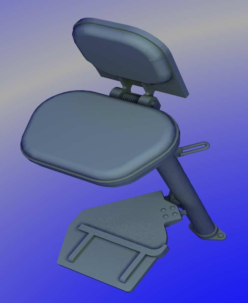 1:35 M60A1 TC's seat by Pawel