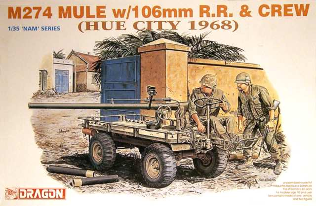 Dragon 3315 M274 Mule w/106mm R.R. & Crew (Hue City 1968) 1:35