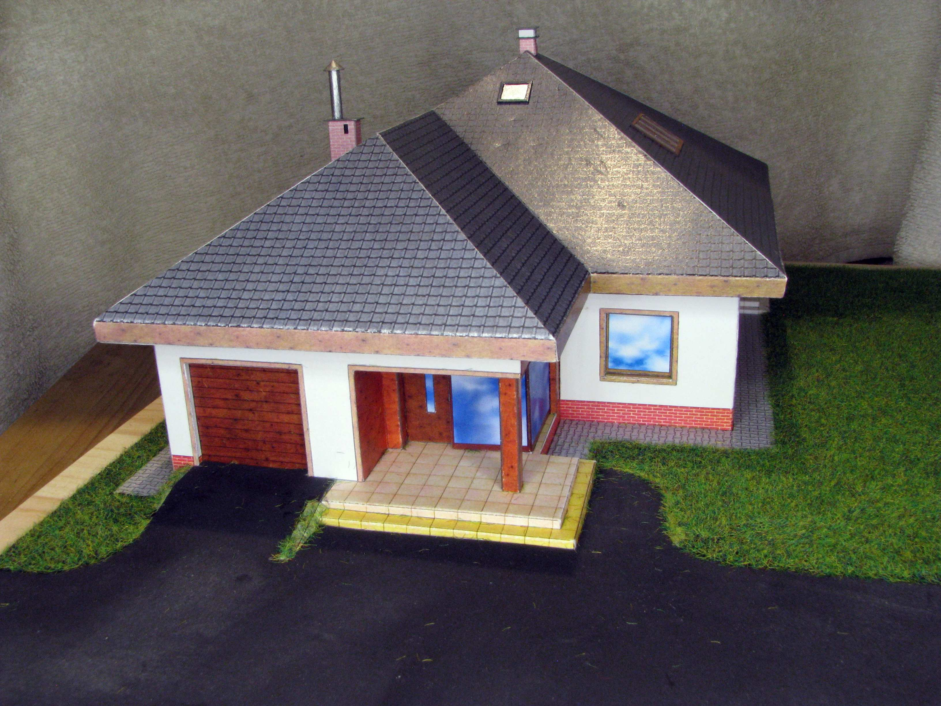 1:87 papre model house by Pawel